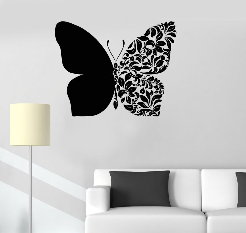 Vinyl Wall Decal Beautiful Butterfly Art Room Decoration House Decor Stickers Unique Gift (ig3231) | Simple wall paintings, Creative wall painting, Wall painting decor